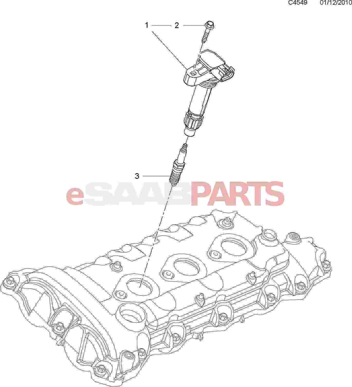 12632479 Saab Ignition Coil 9 5ng Aero Amp 9 4x