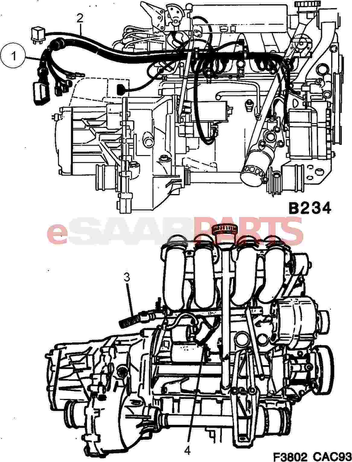 saab engine bay diagram