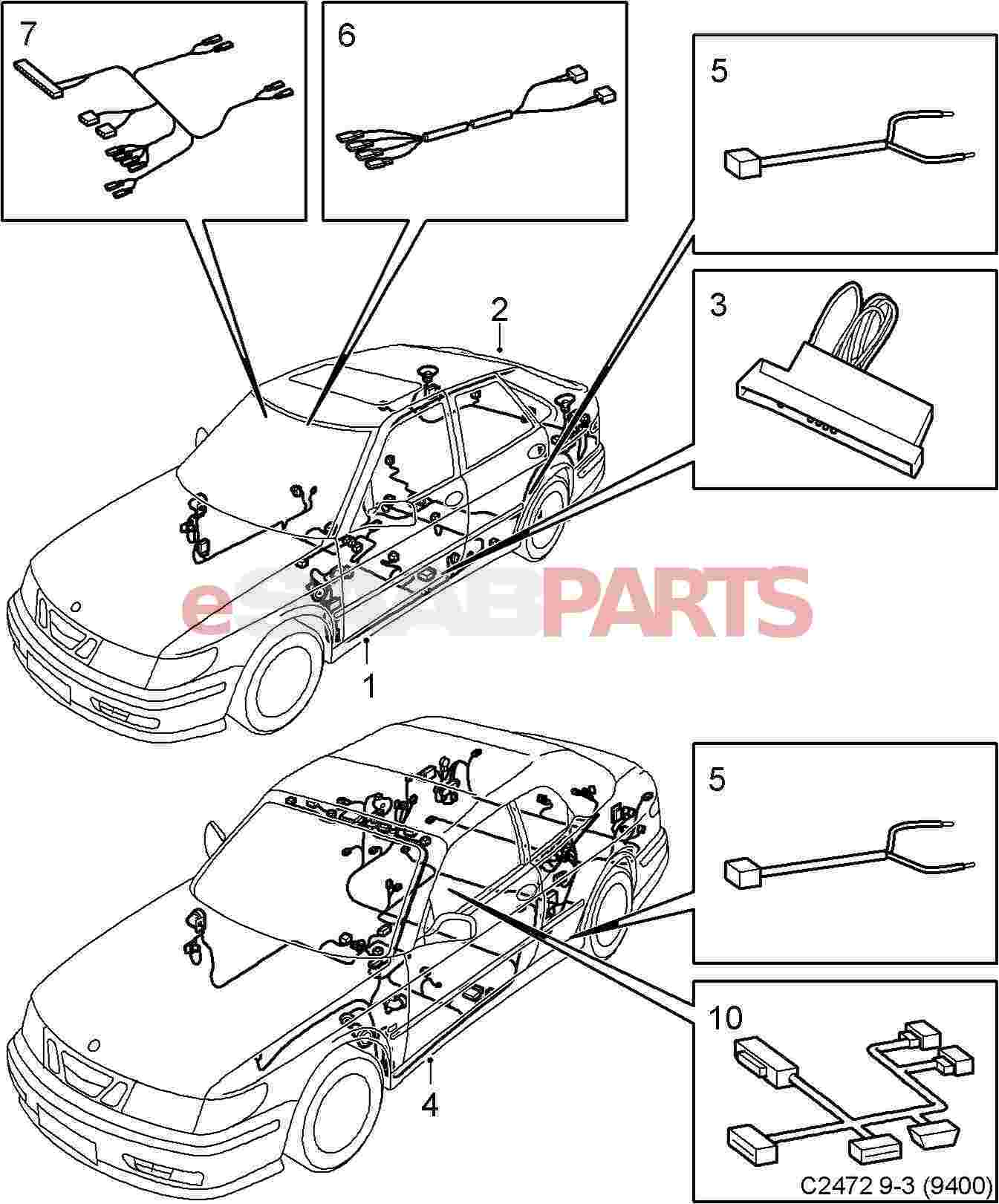 2003 Saab 9 3 Fuse Box as well 5262357 in addition Wiring Harness likewise Saab Antenna Parts Diagrams also 1997 Infiniti Qx4 Wiring Diagram And Electrical System Service And Troubleshooting. on 2003 saab 9 3 antenna