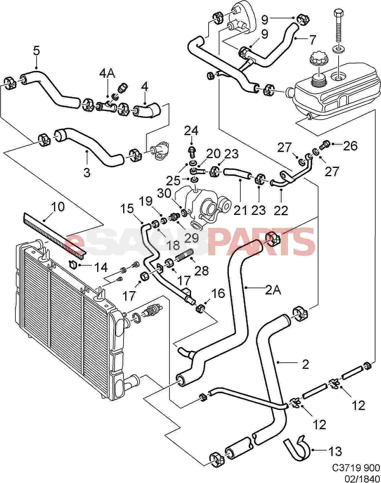 Audi A4 Engine Parts Diagram Archive Of Automotive Wiring 2004 Harness 92150435 Saab Gasket Genuine From Esaabparts Com Rh Marvellous