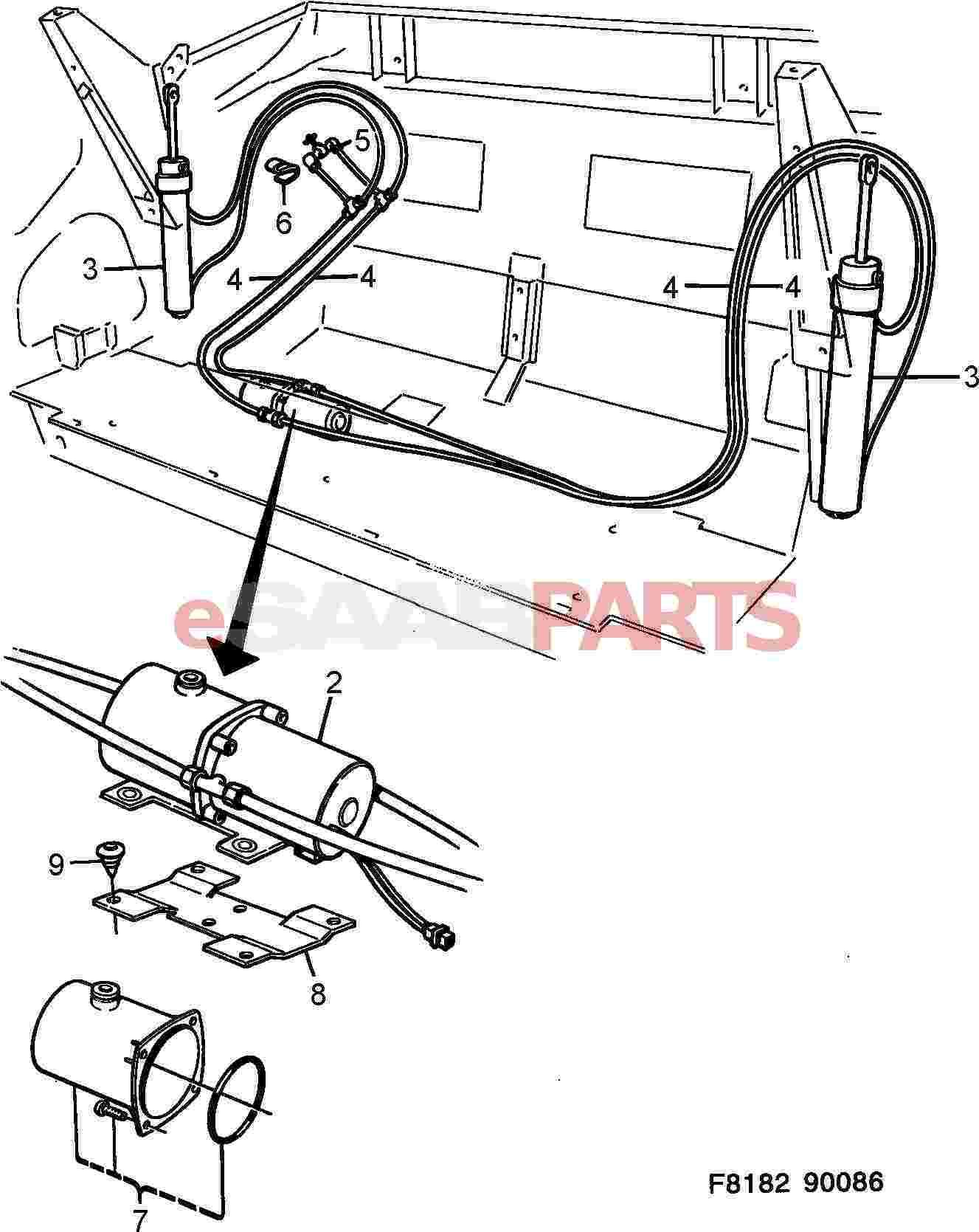 32019857  Saab Hydraulic Cylinder