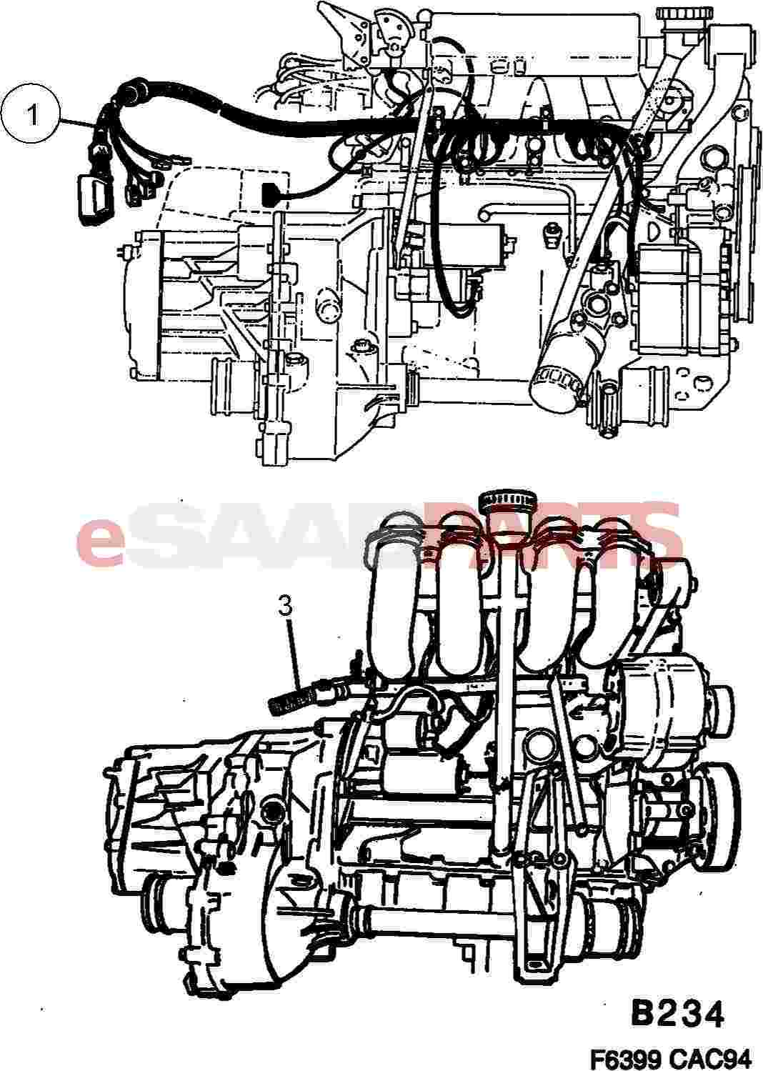 4535662  saab cable harness