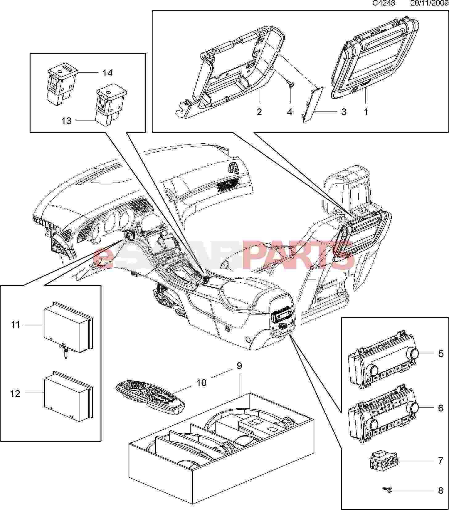 esaabparts com saab 9 5 (650) \u003e electrical parts \u003e audio \u0026 relatedesaabparts com saab 9 5 (650) \u003e electrical parts \u003e audio \u0026 related \u003e rear seat entertainment package
