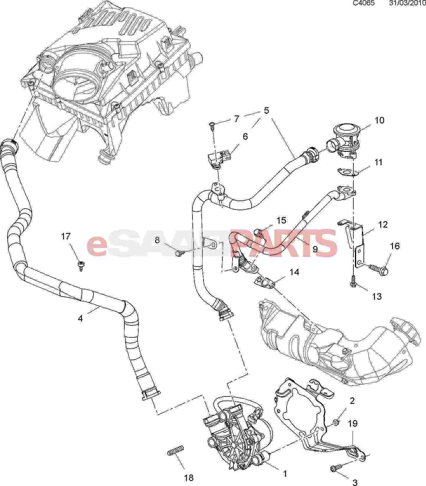 12787705  saab charge air absolute pressure sensor