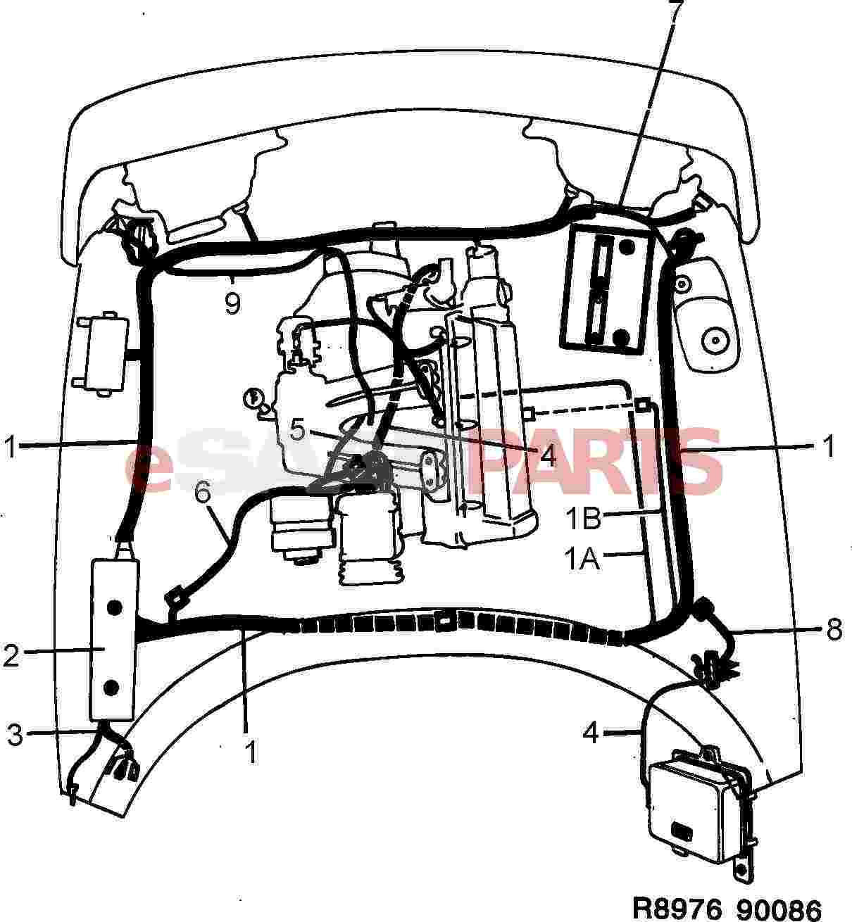 Saab 900 Wiring Harness Data Schematic Scosche Diagram 2006 Ford Mustang Esaabparts Com U003e Electrical Parts Rh Avalanche Car Stereo