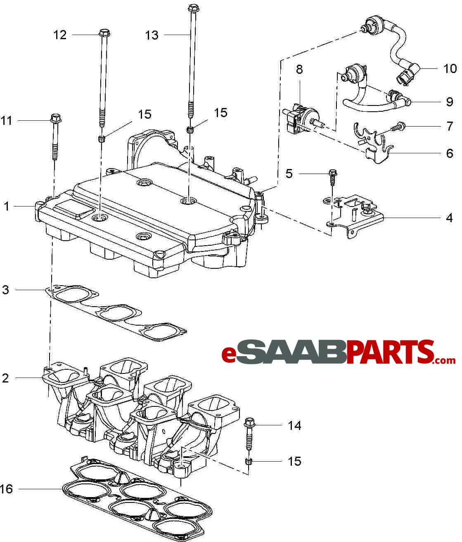 12581397  Saab Intake Manifold Gasket  2 8t
