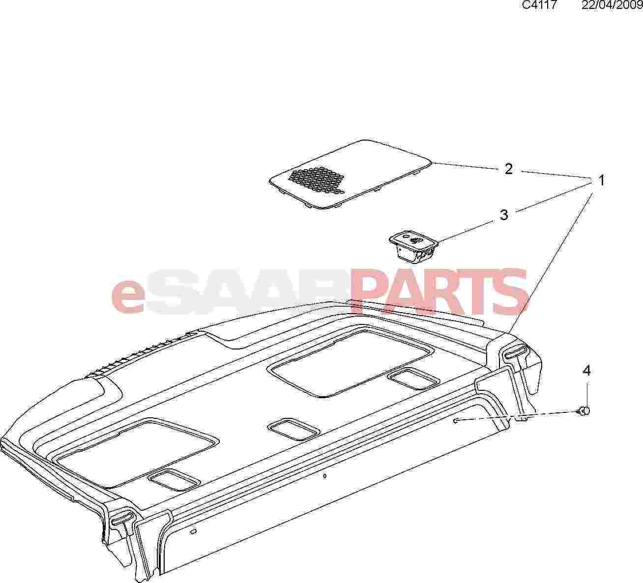 eSaabParts com - Saab 9-5 (650) > Car Body: Internal Parts