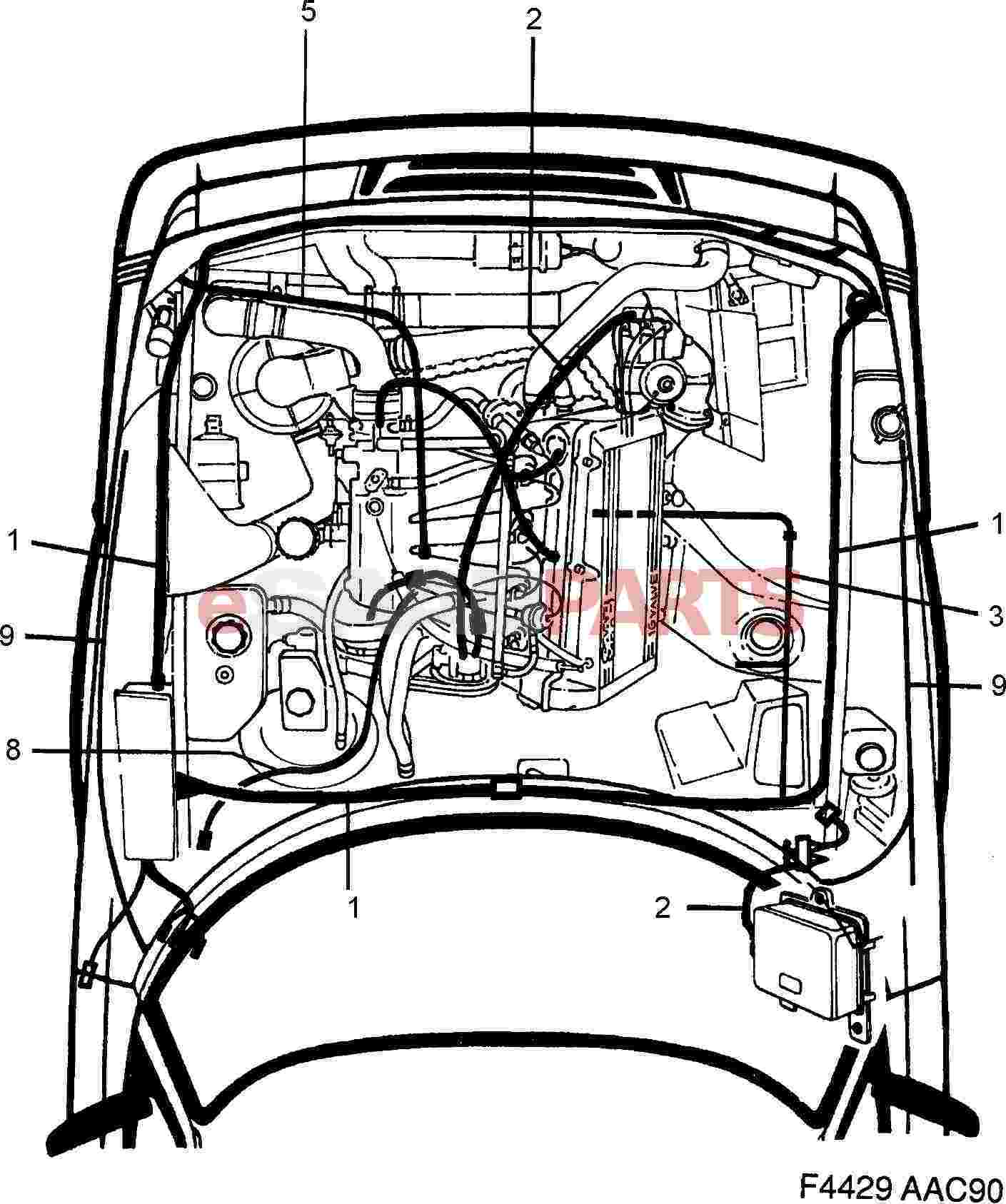4663019  saab cable harness