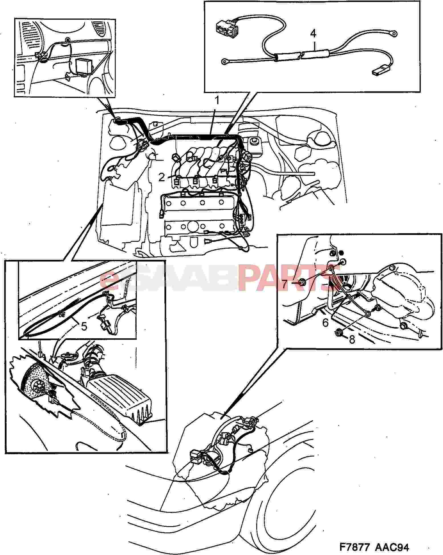 4691556  saab cable harness