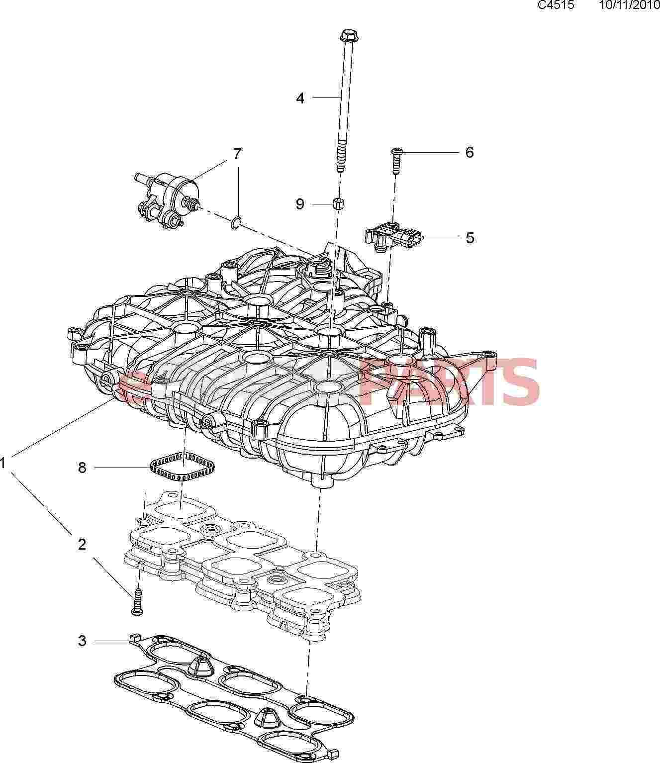 4 9l Engine Diagram Intake Manifold - Wiring Diagram G8  L Engine Diagram Intake Manifold on