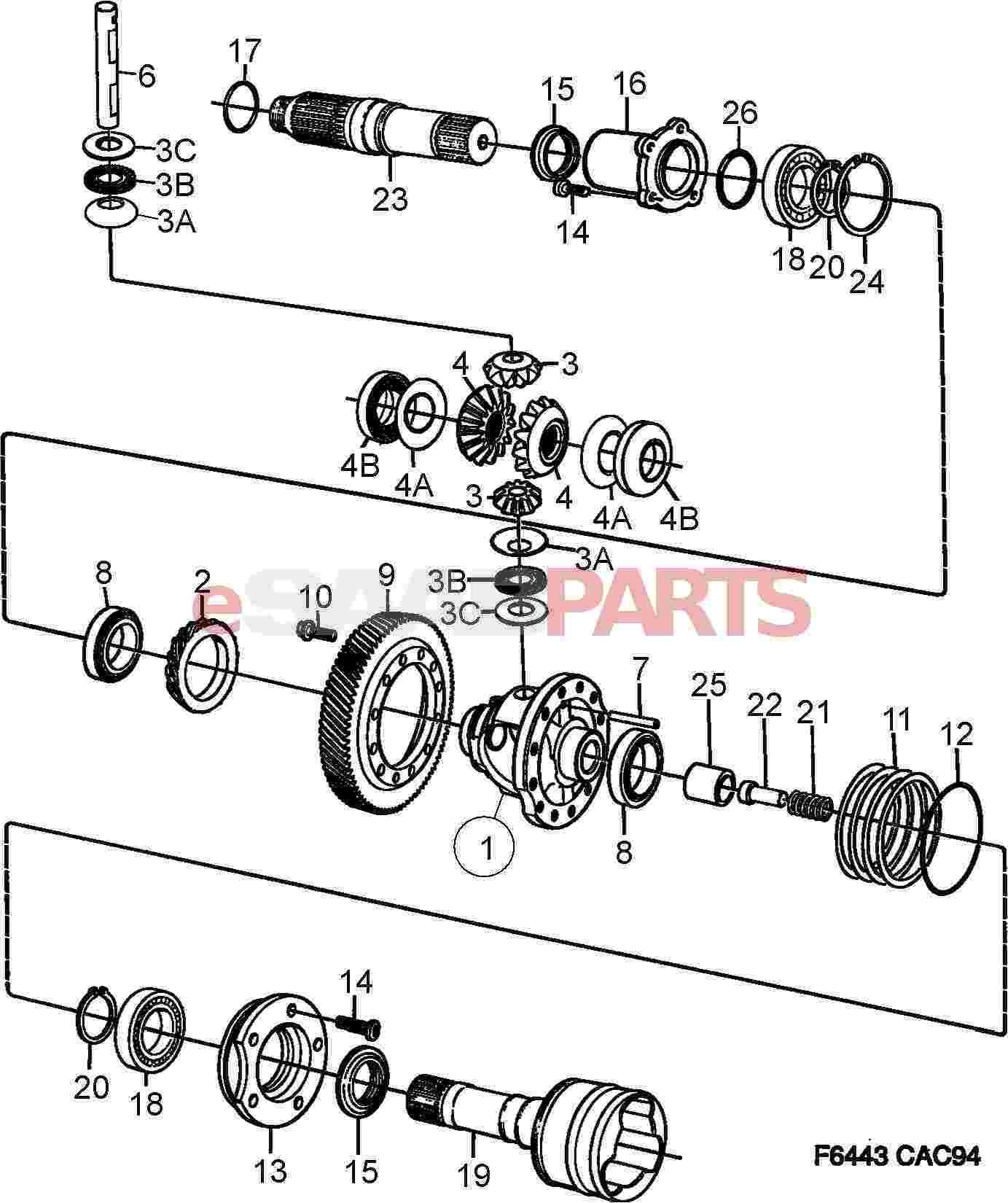 1998 saab 9000 manual transmission hub replacement