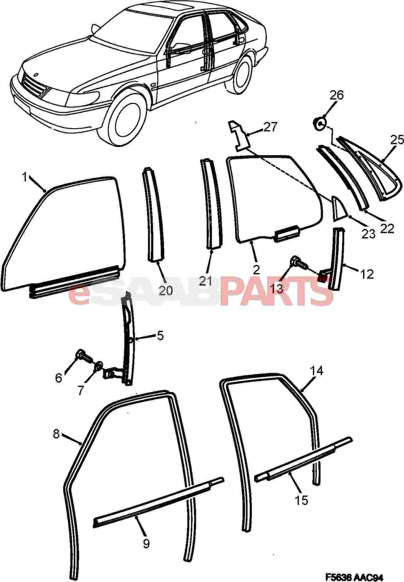 saab 900 chassis diagram