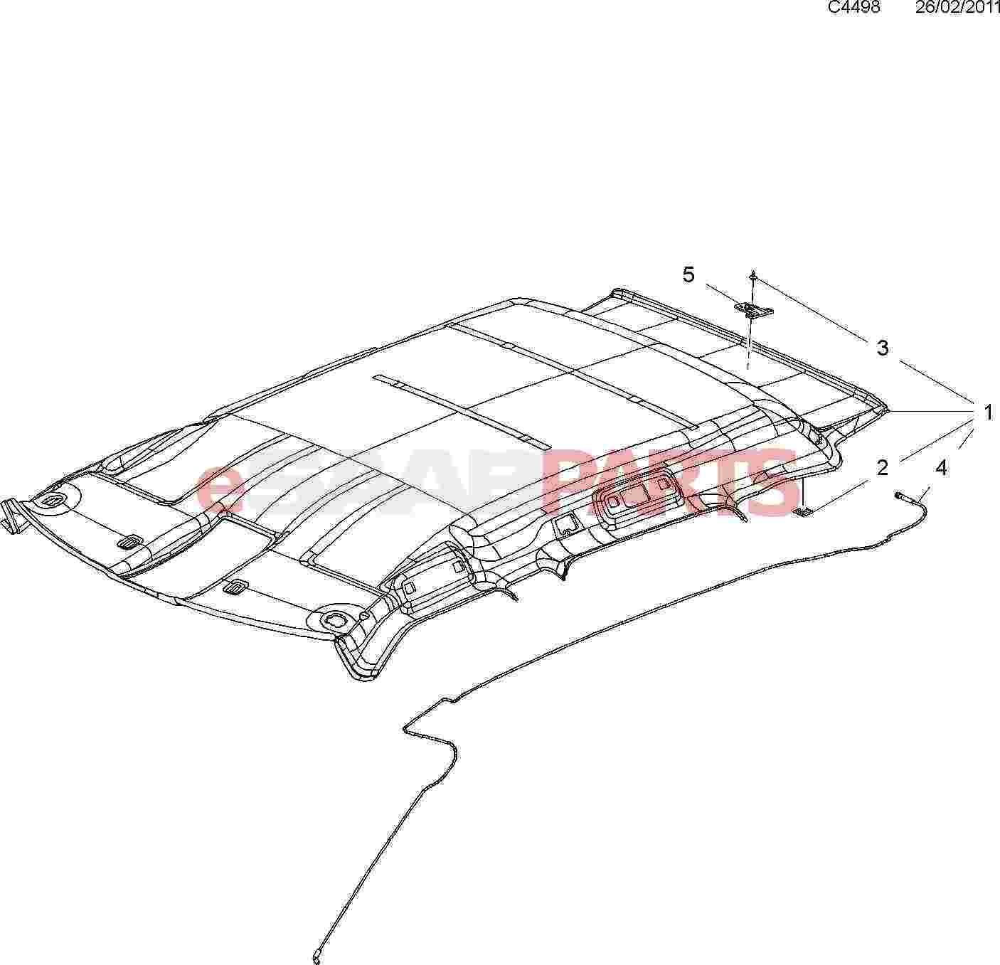 eSaabParts com - Saab 9-4X (168) > Car Body: Internal Parts
