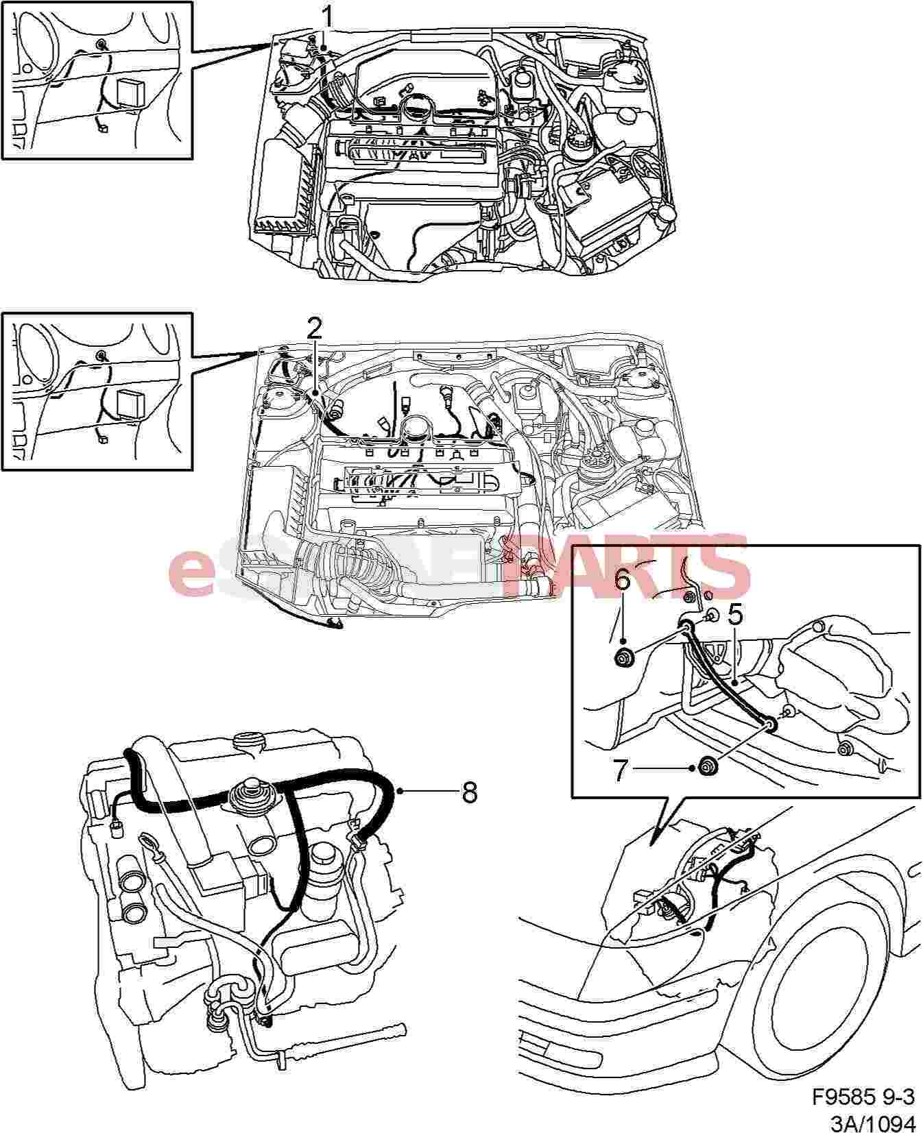 30581407  saab cable harness