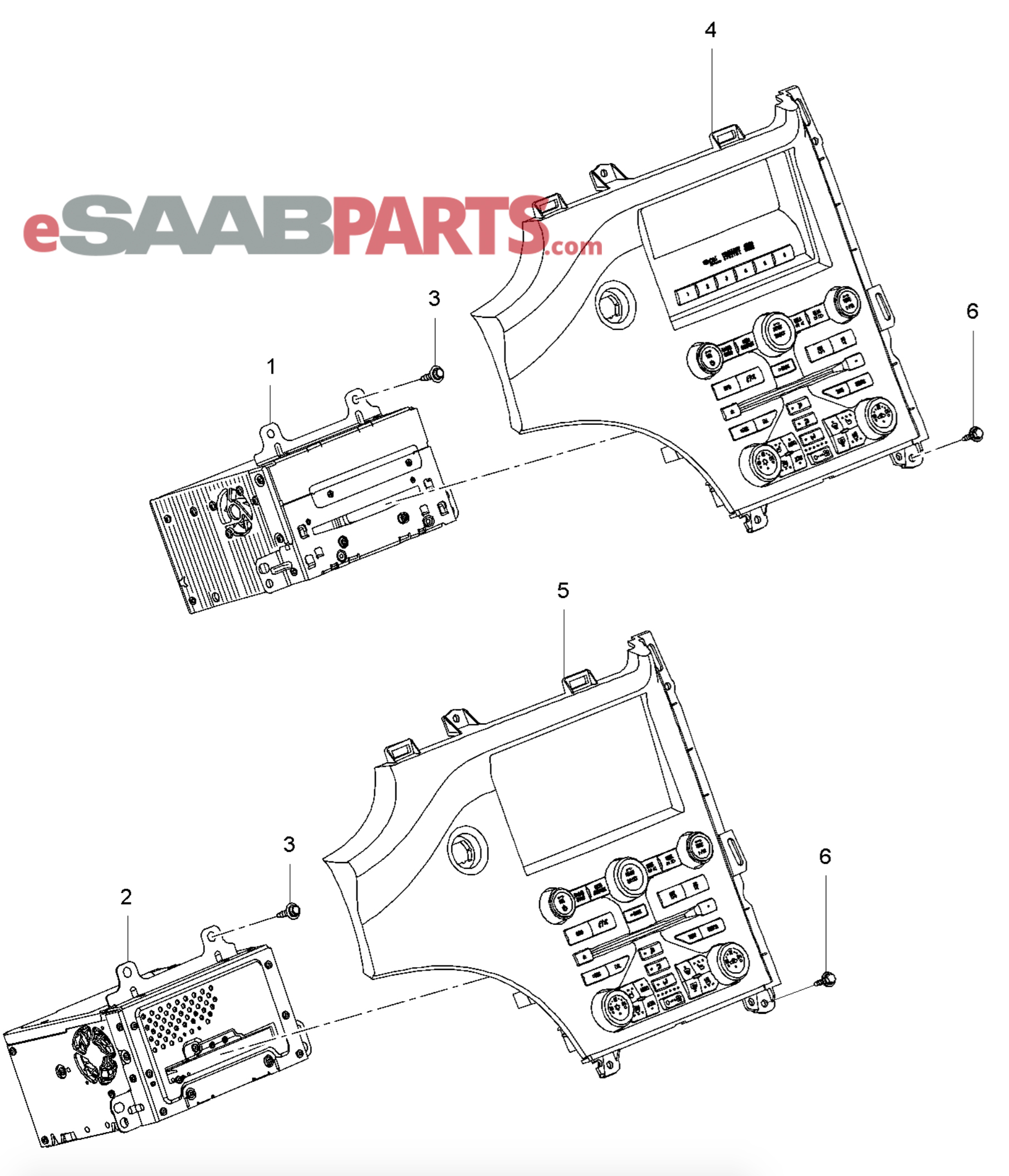 Saab 9 4x 168 Electrical Parts Audio Wiring Diagram For Heated Seats Related Radio Navigation System
