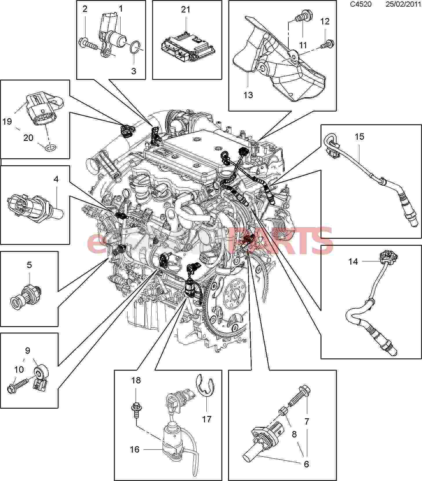 12637010  saab oil level sensor  2 8t