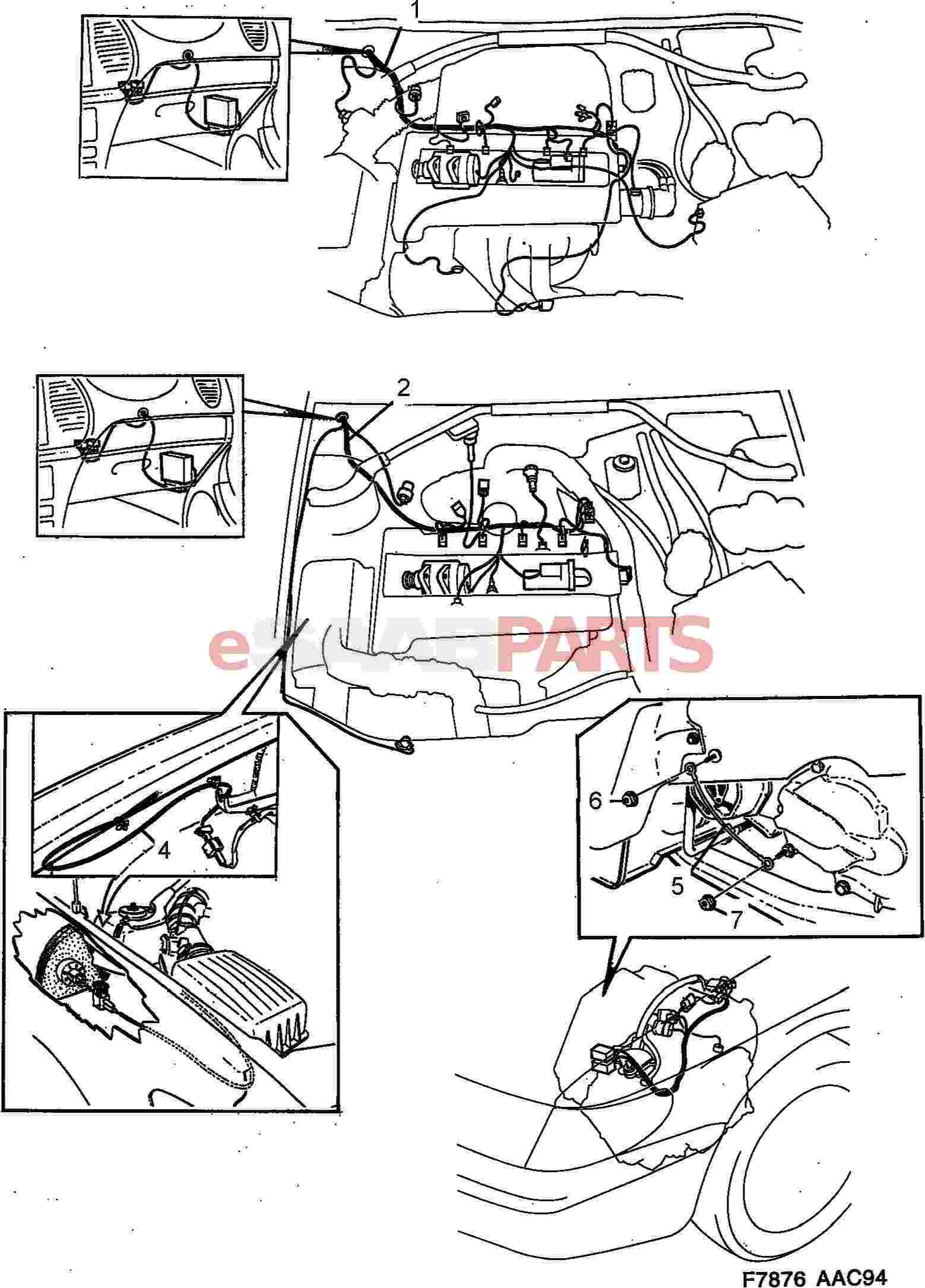 Saab 900 Wiring Harness Electrical Diagram Schematics Diagrams C900 For Esaabparts Com U003e Parts Radio Wire