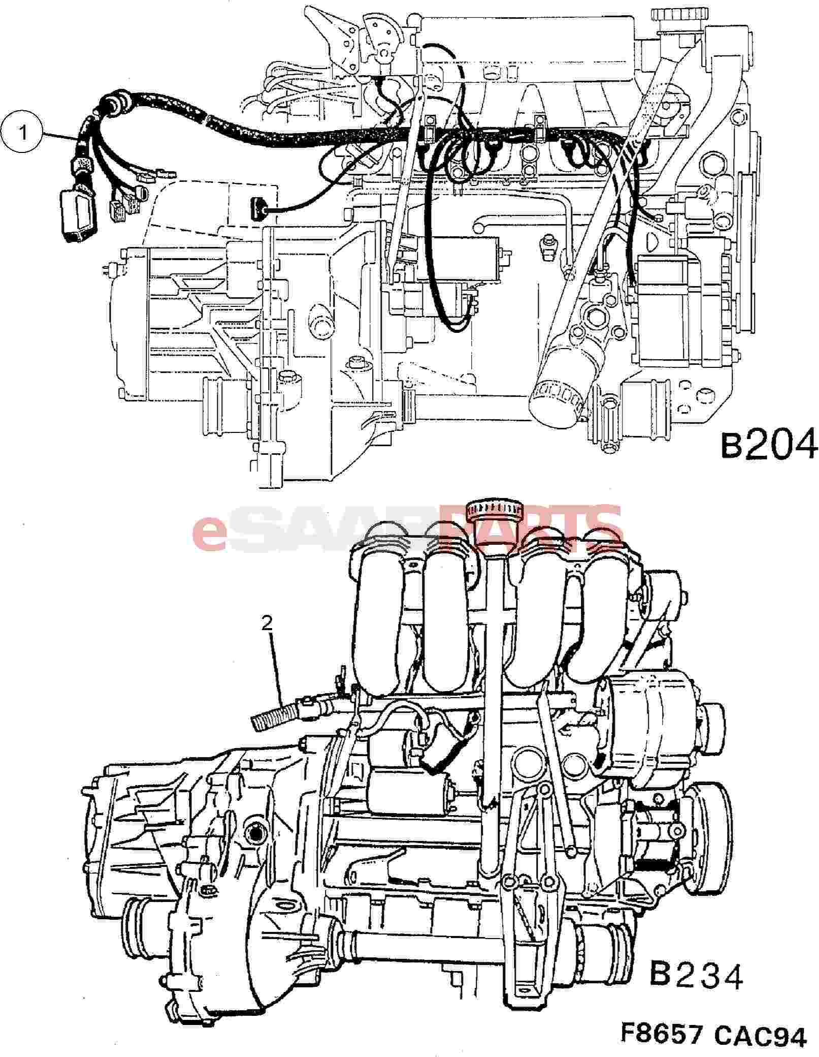 Saab B204 Wiring Diagram Schematic Diagrams For 1997 900 Engine Introduction To Electrical Amplifier Esaabparts Com