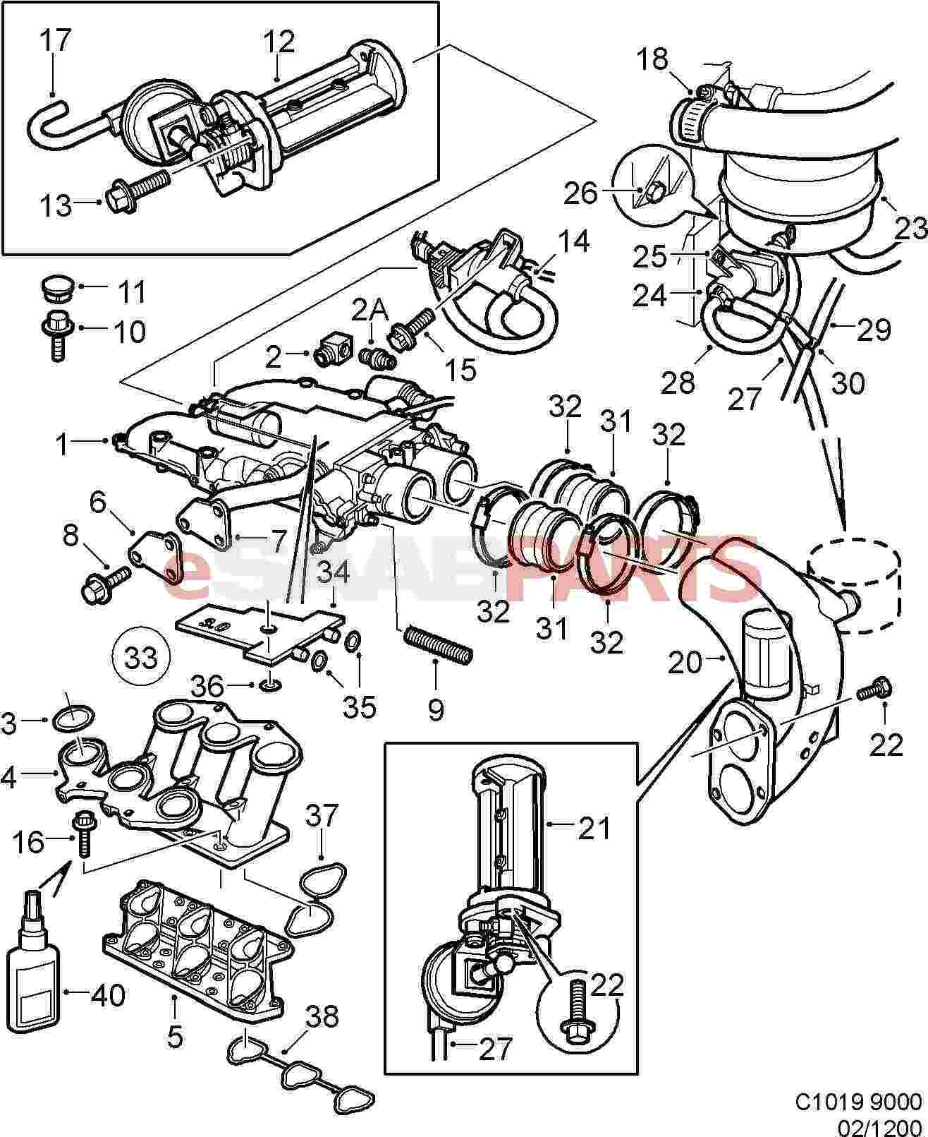 Saab 9000 Engine Diagram Quick Start Guide Of Wiring Pontiac Sunbird Esaabparts Com U003e Parts Internal Inlet Rh 1996 Cs