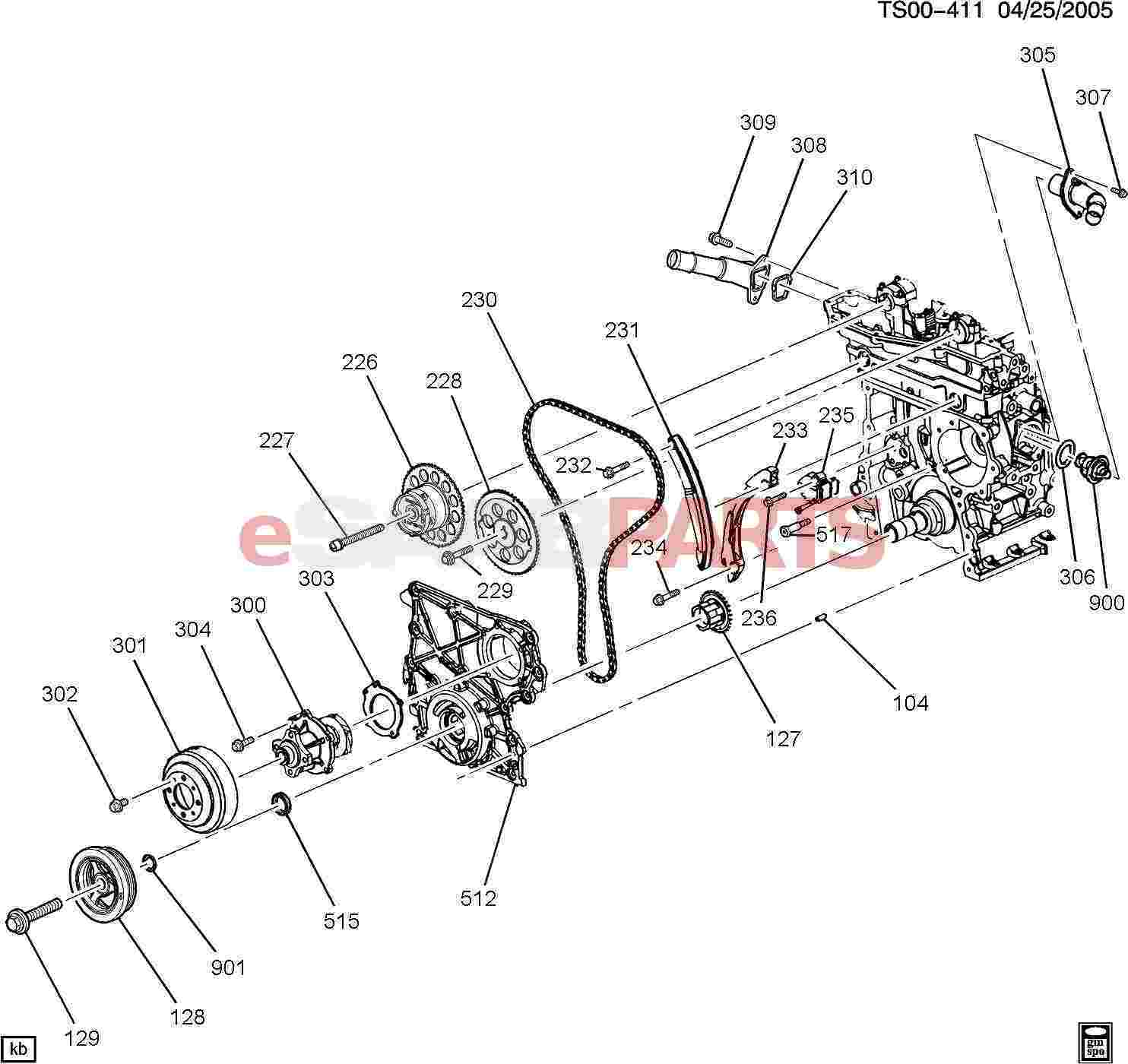12561155 Saab Seal Engine Cool Therm Hsg Genuine Parts From 3 1 L Diagram Image 306