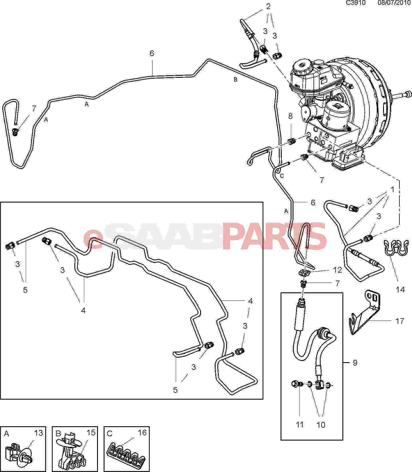 designs saab 9 5 rear caliper diagram