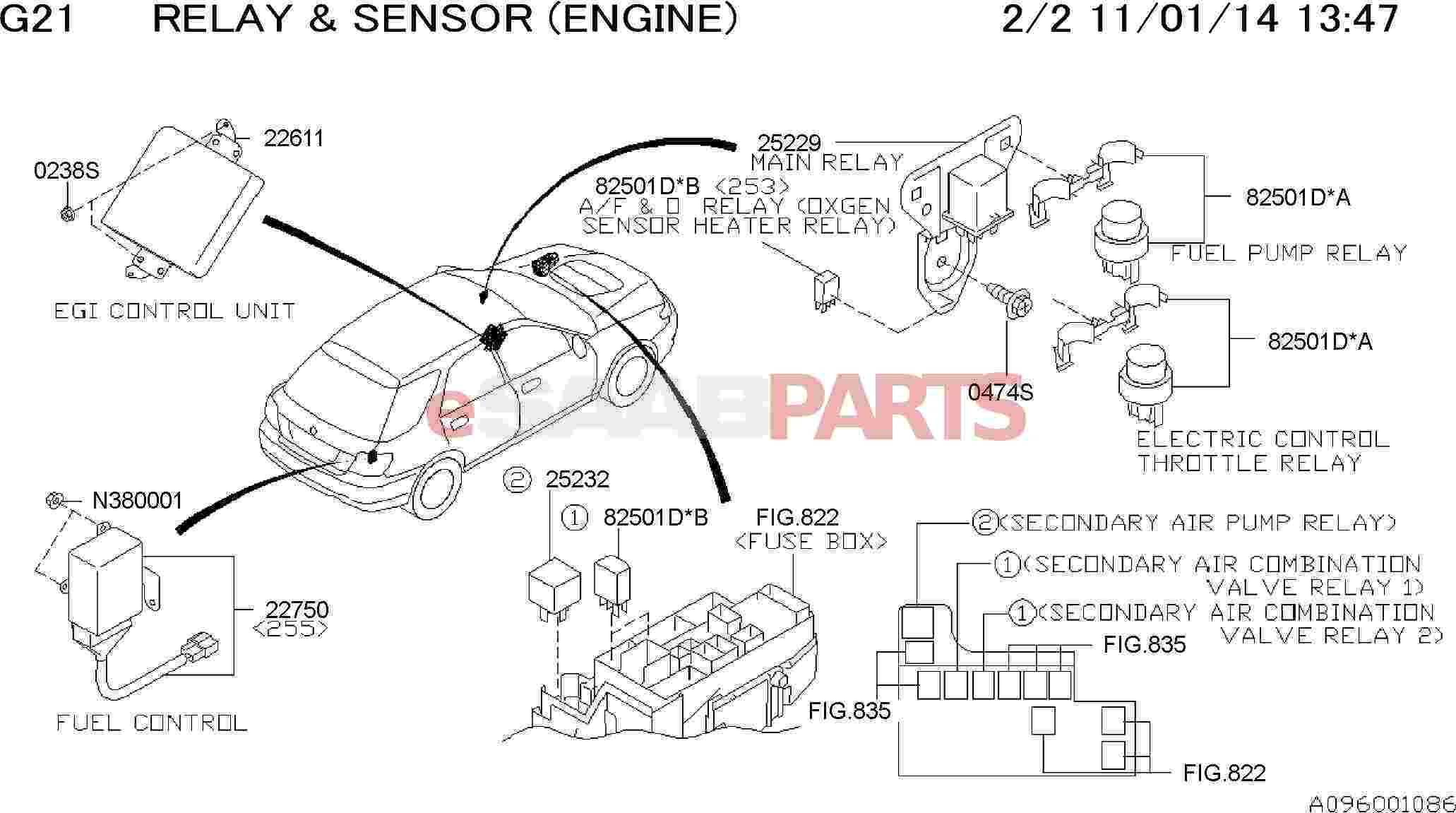 32008611 Saab Relay Genuine Parts From 2005 9 2x Fuse Box Diagram Image 82501d B