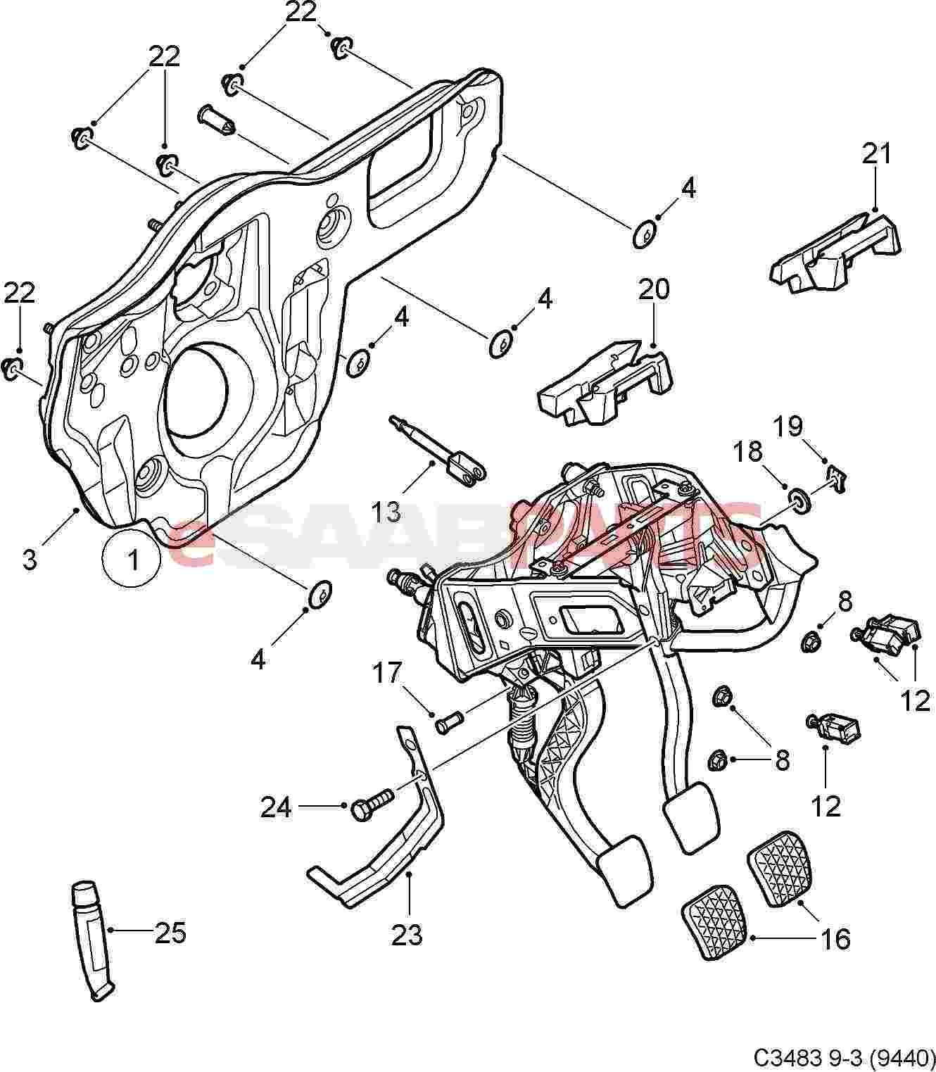 55701396  saab clutch pedal switch