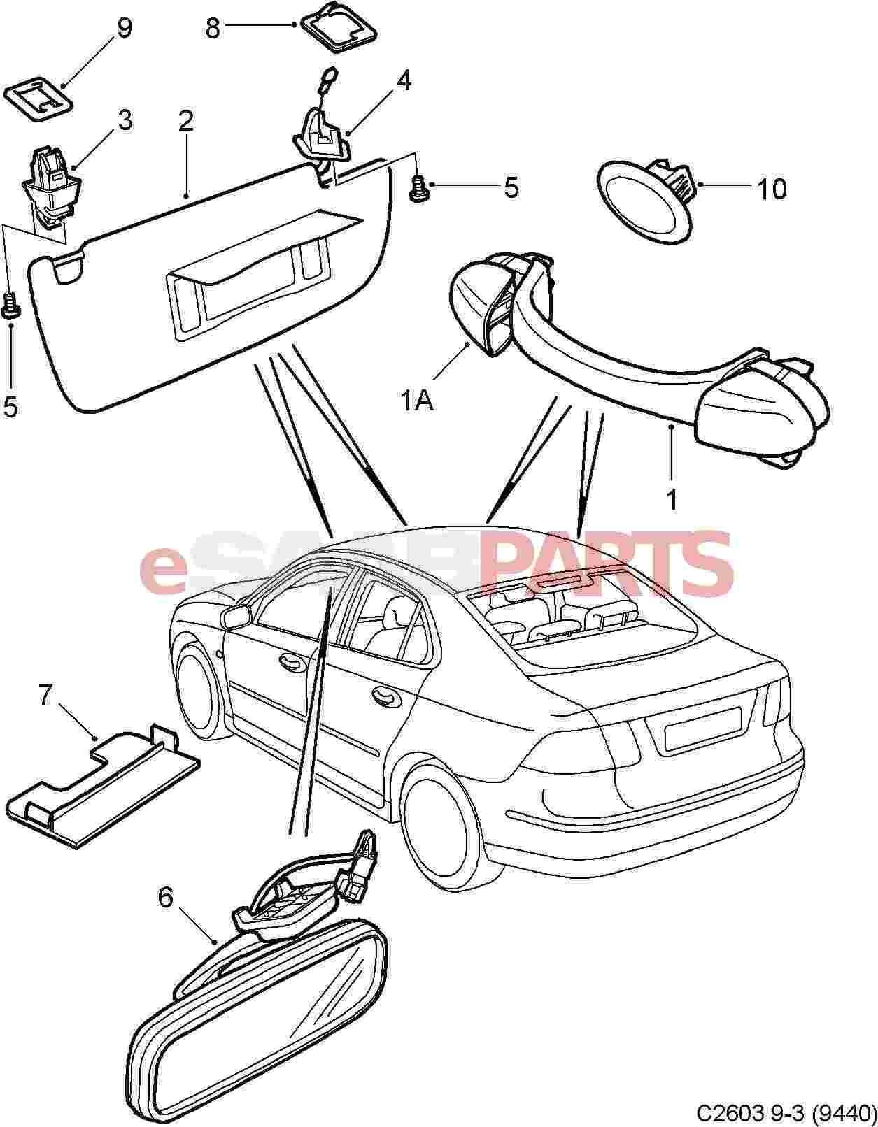 saab 9 3 parts diagram interior  saab  auto parts catalog