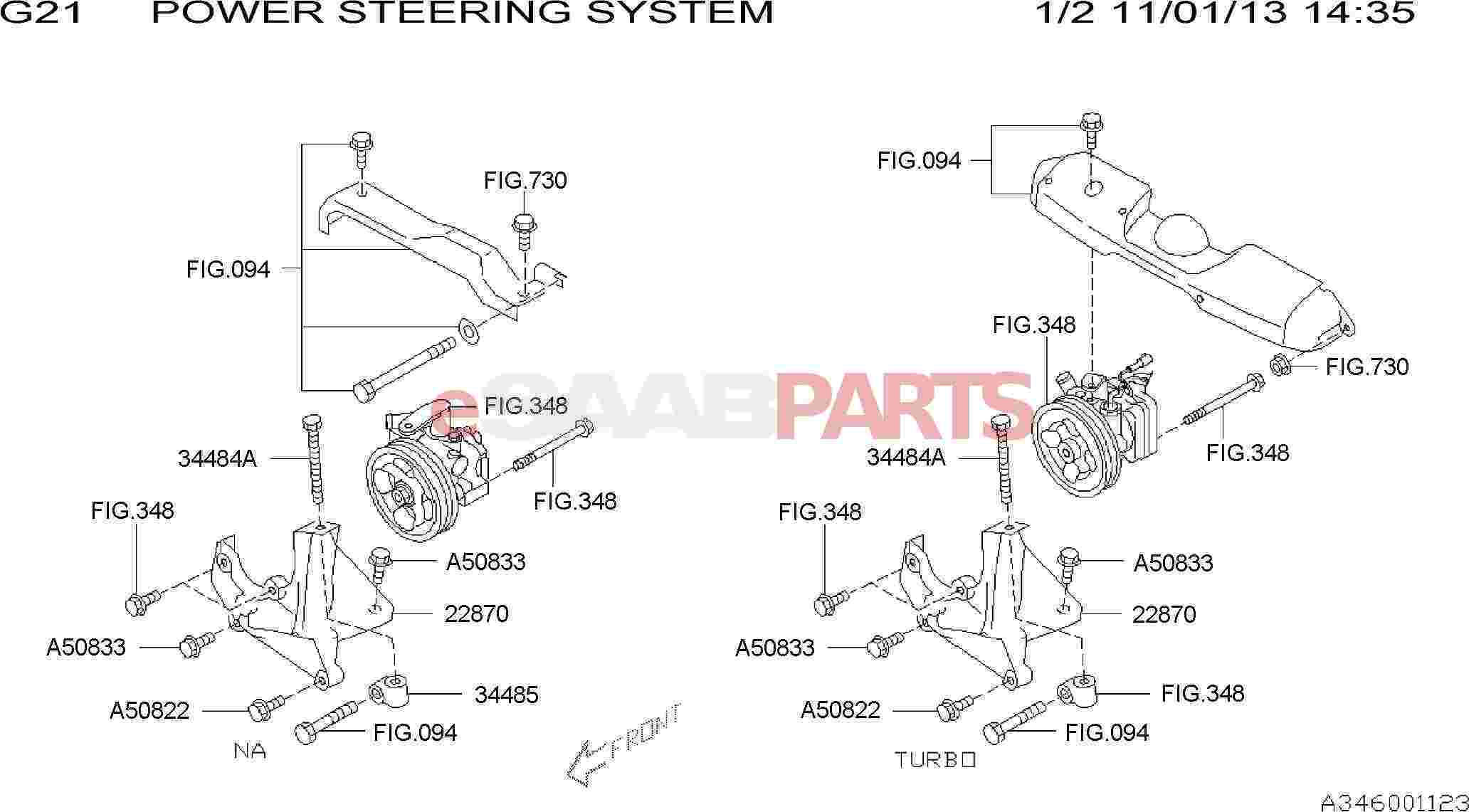 eSaabParts com - Saab 9-2x > Front Wheel Suspension Parts