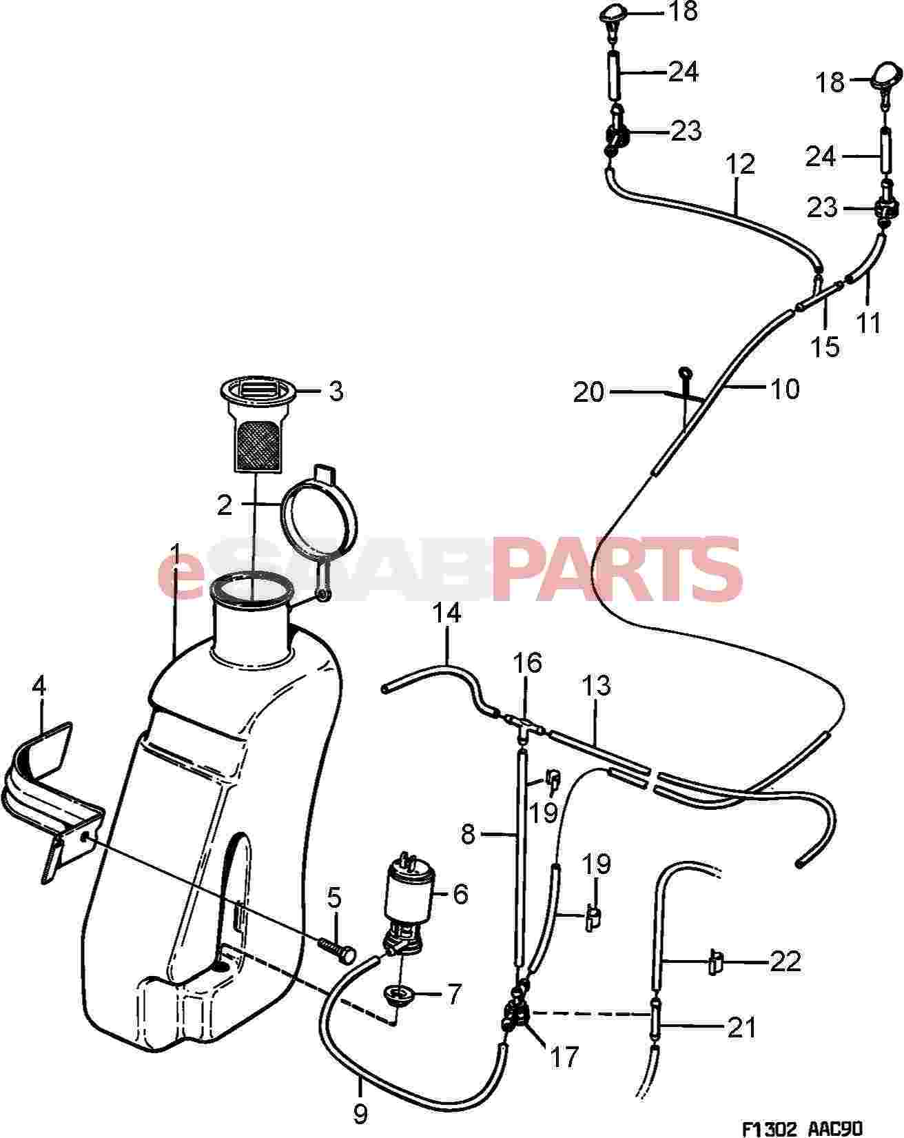 Saab 900 Electrical Parts Wipers Related Wiring Diagram For 1990 Washer Unit