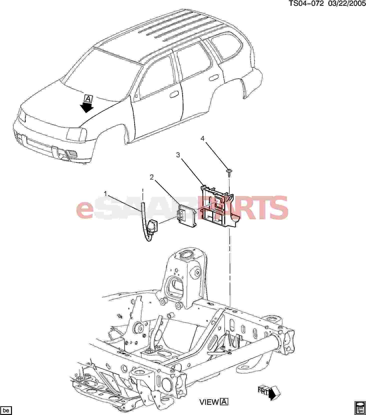 15183664  saab bracket  engine control module  electronic