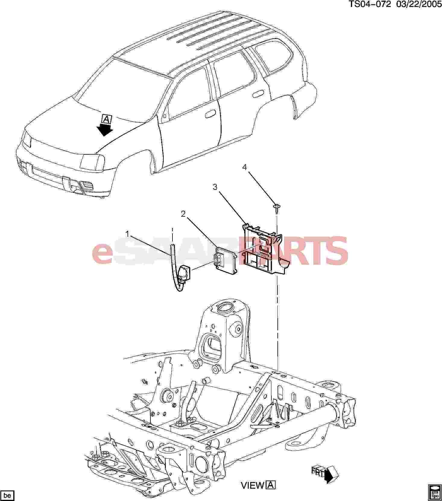 15183664  Saab Bracket  Engine Control Module  Electronic