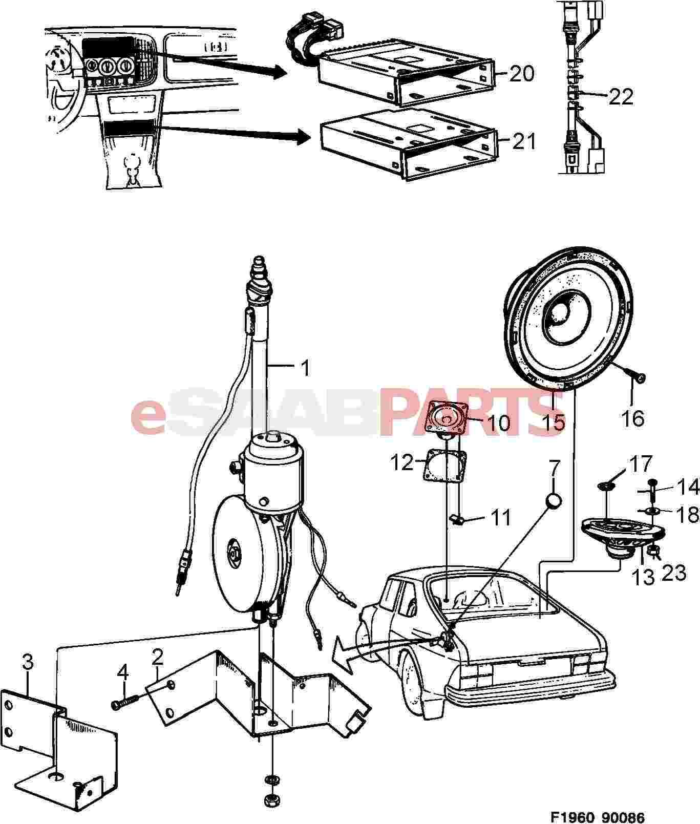 Saab Trionic Wiring Diagram Electrical Aerial Loudspeaker