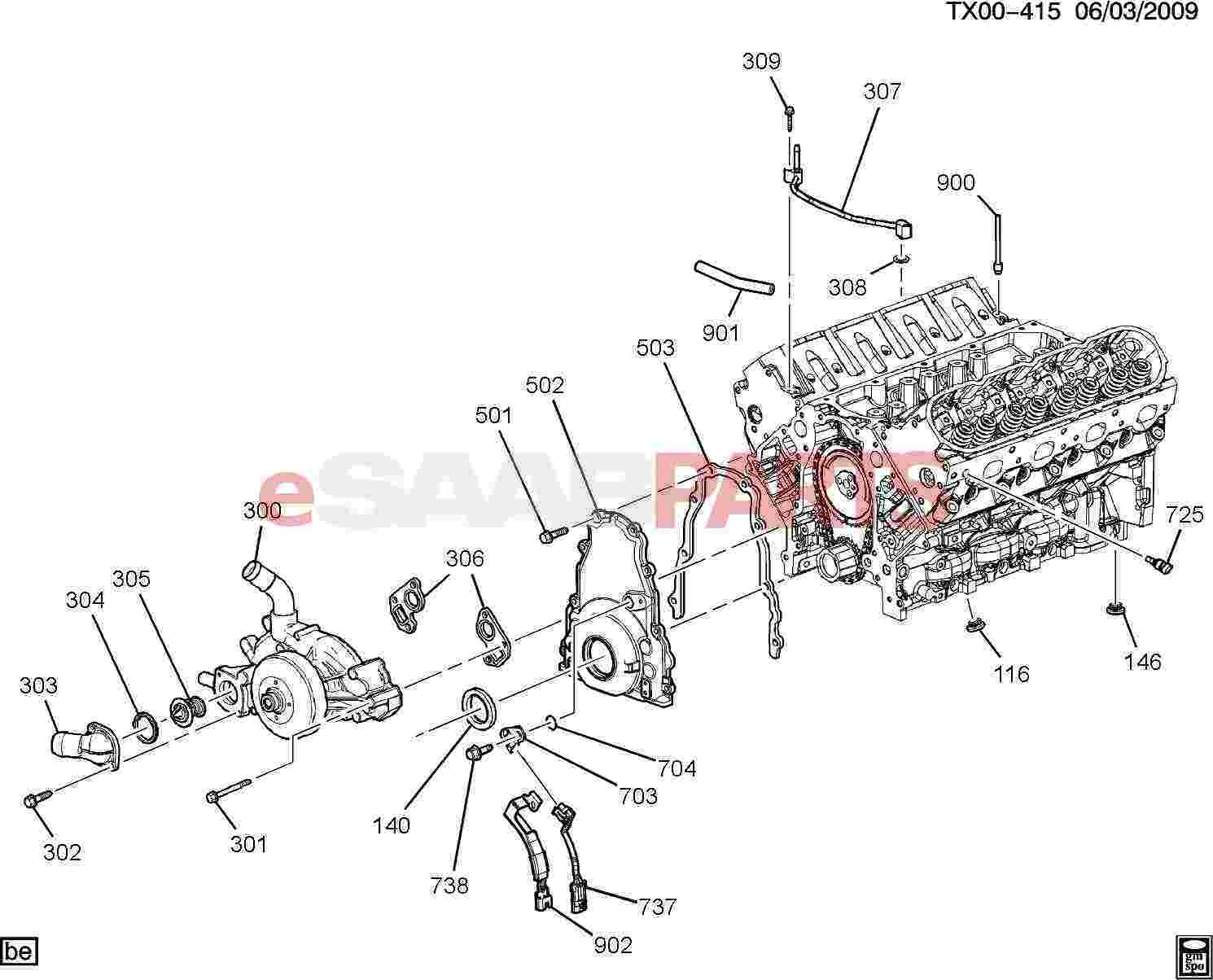 12602048 Saab Plug Engine Cool Air Bl Genuine Parts From 302 Diagram Image 900