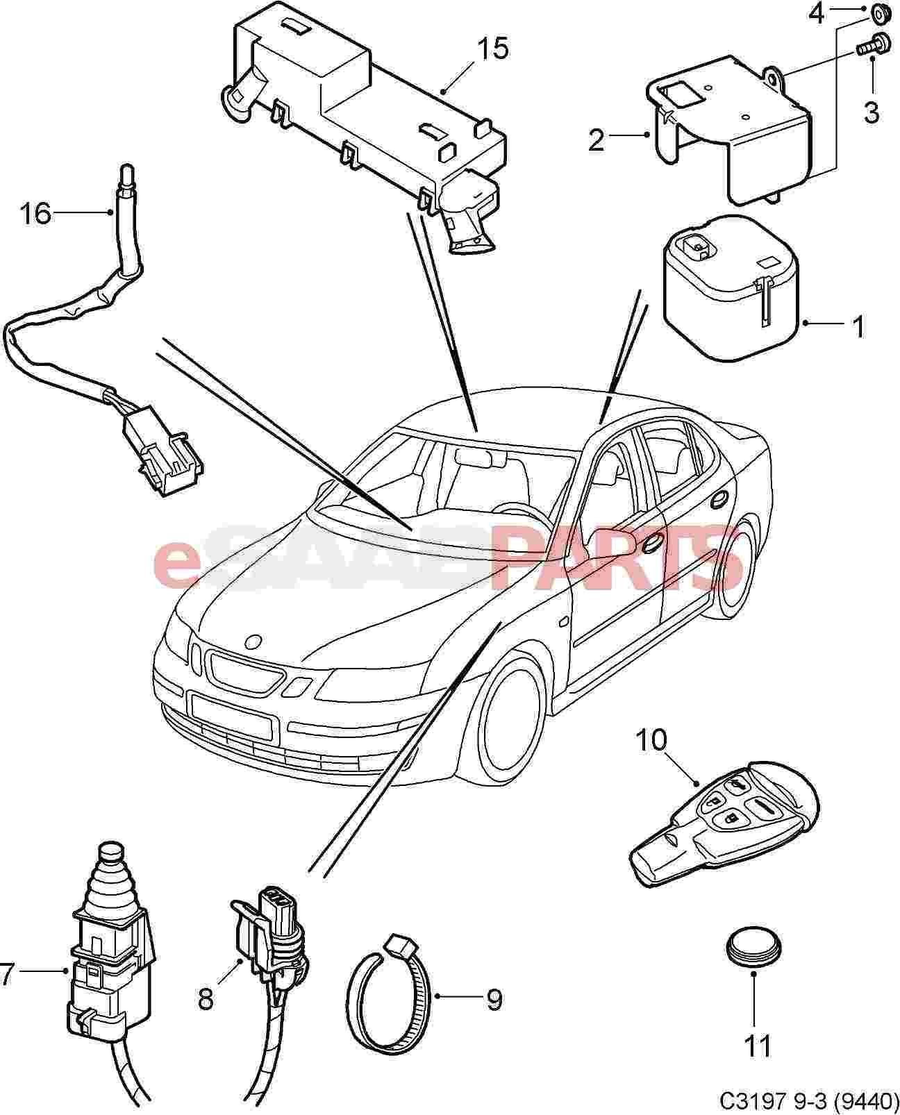 2003 Saab 9 3 Parts Wiring Diagrams together with Sab sa93 intpnl pg1 together with  on 2003 saab linear sedan
