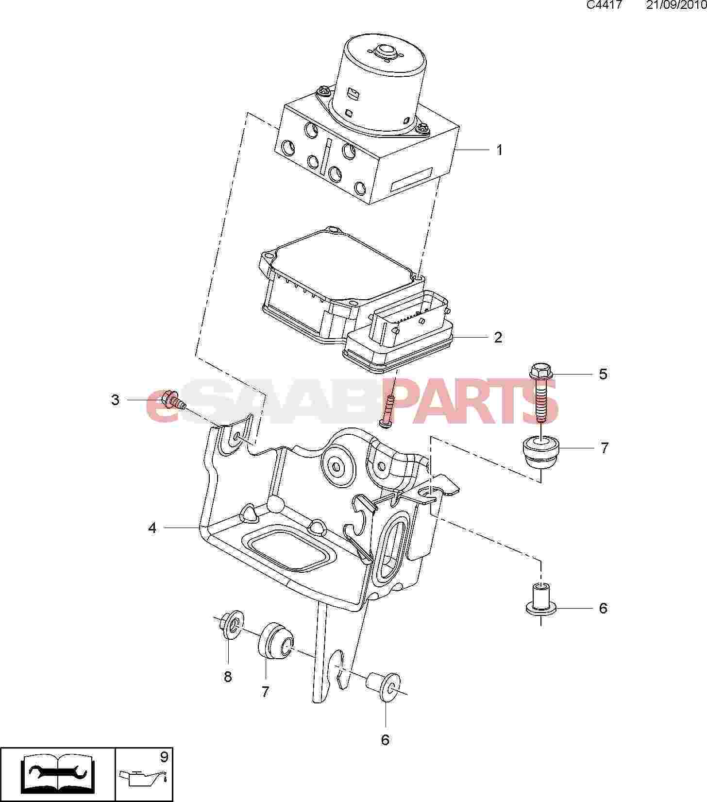 34940 Relais De Ventilateur Basse Vitesse Pour Chrysler Pt Cruiser 22l Crd 4727370aa further 2000 Bmw 540i Engine Diagram furthermore Saab 9000 Wiring Diagram besides Midland Abs Wiring likewise Sis. on saab 9 3 abs module