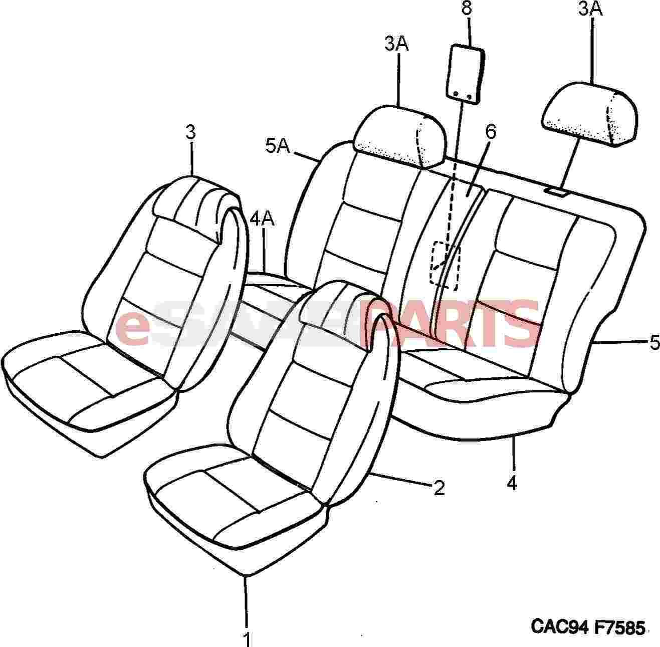 eSaabParts com - Saab 9000 > Car Body: Internal Parts > Body