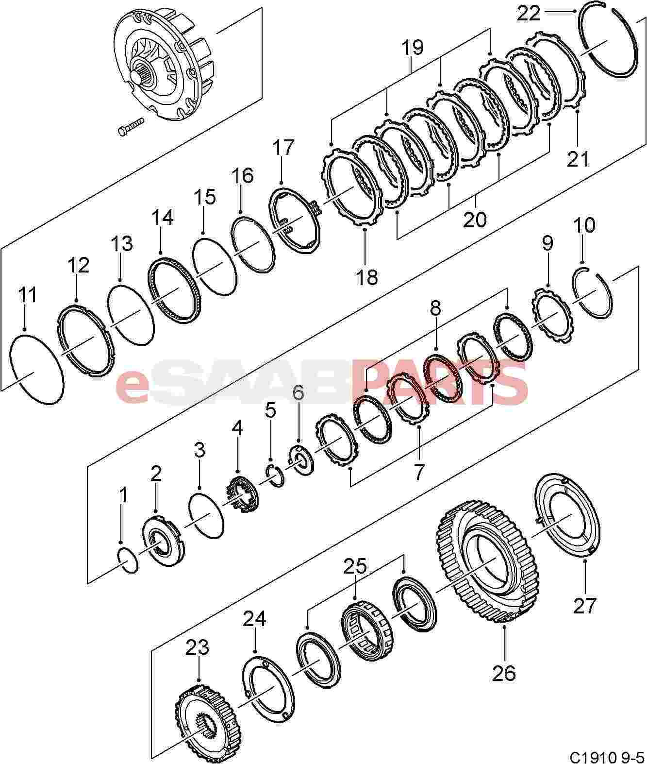 2002 saab 9 5 part diagram