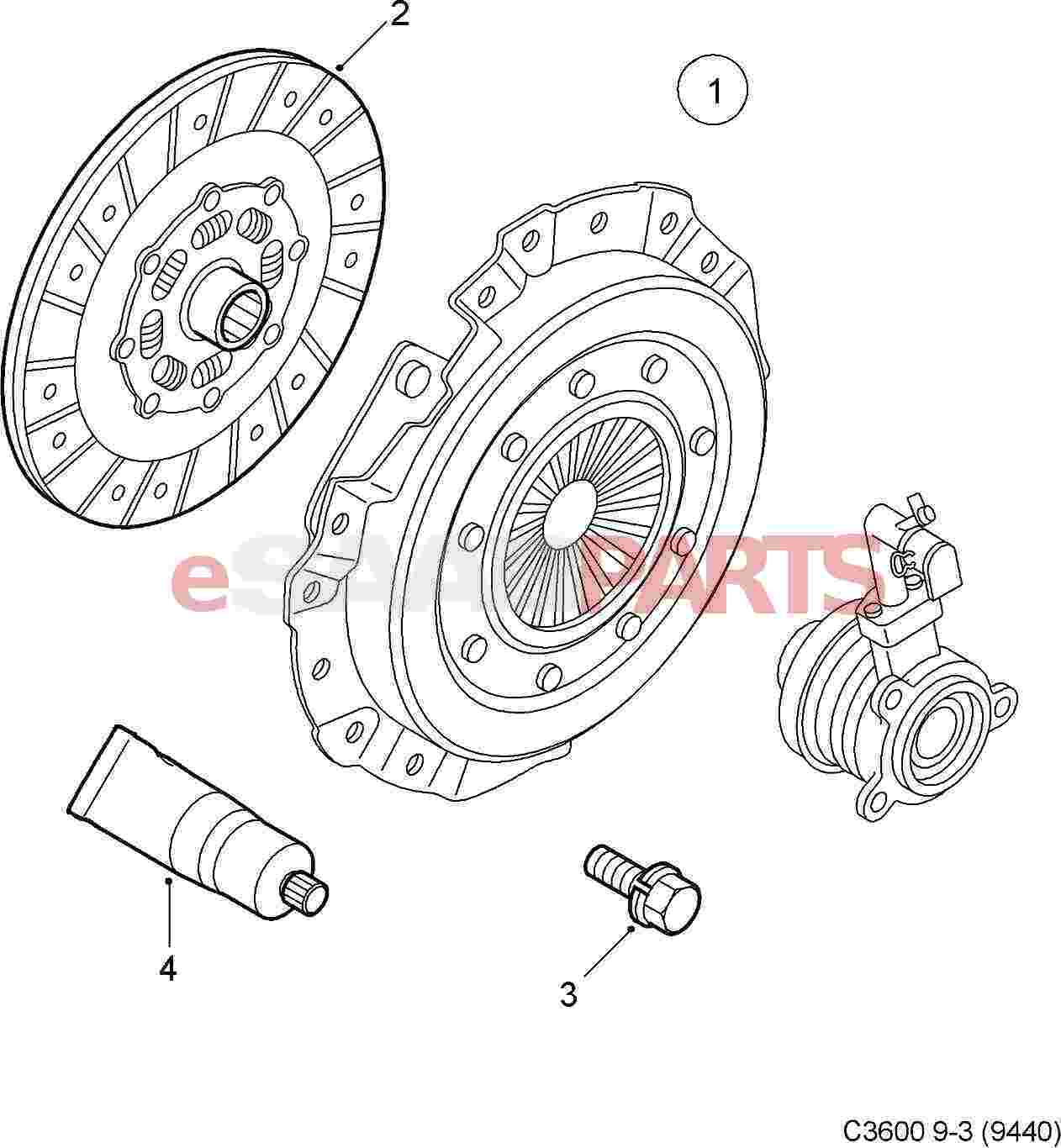 55581277  Saab Clutch Kit  9
