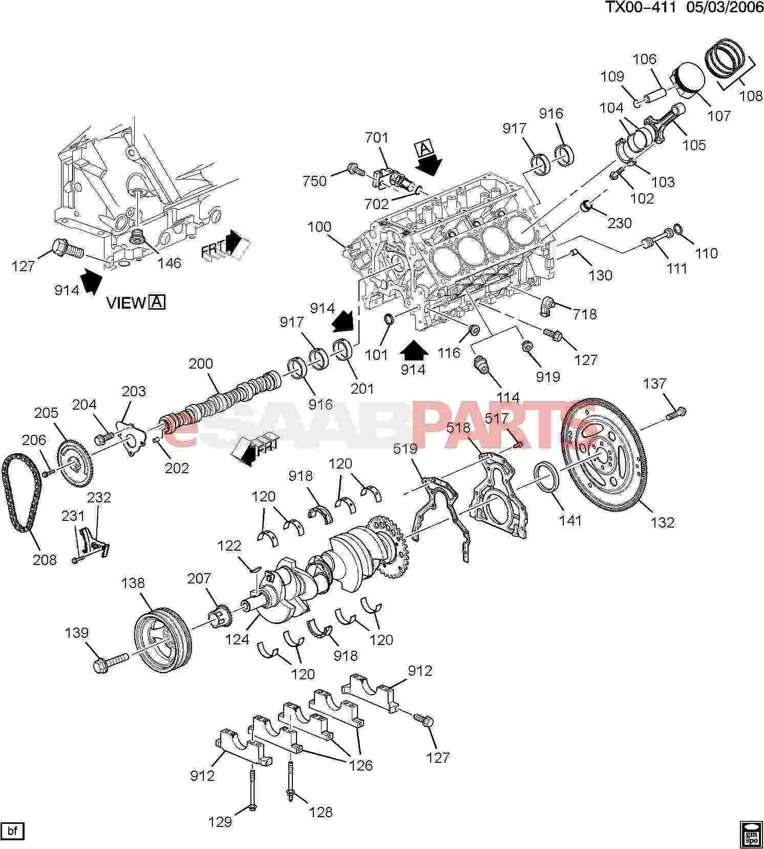 12586687  SAAB    Engine    Heater  B284 28T    V6     Genuine