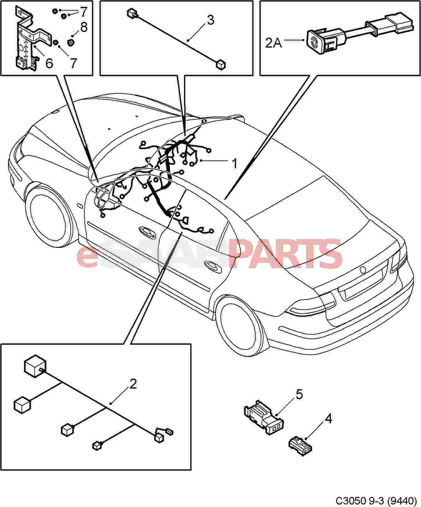 wiring diagram 1999 saab 9 3 speakers