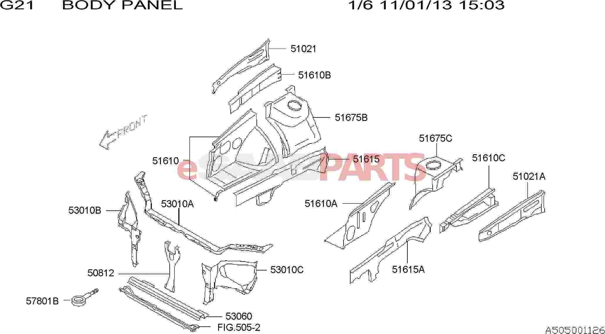 eSaabParts.com - Saab 9-2x > Car Body: External Parts > Frame & Body ...