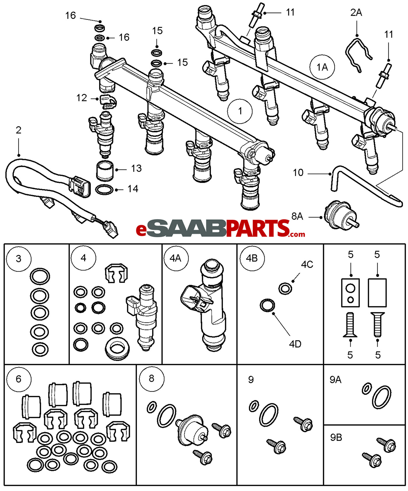 55353040 saab fuel pressure regulator genuine saab parts from rh esaabparts com saab 900 fuel system diagram Saab 9 3 Convertible Problems