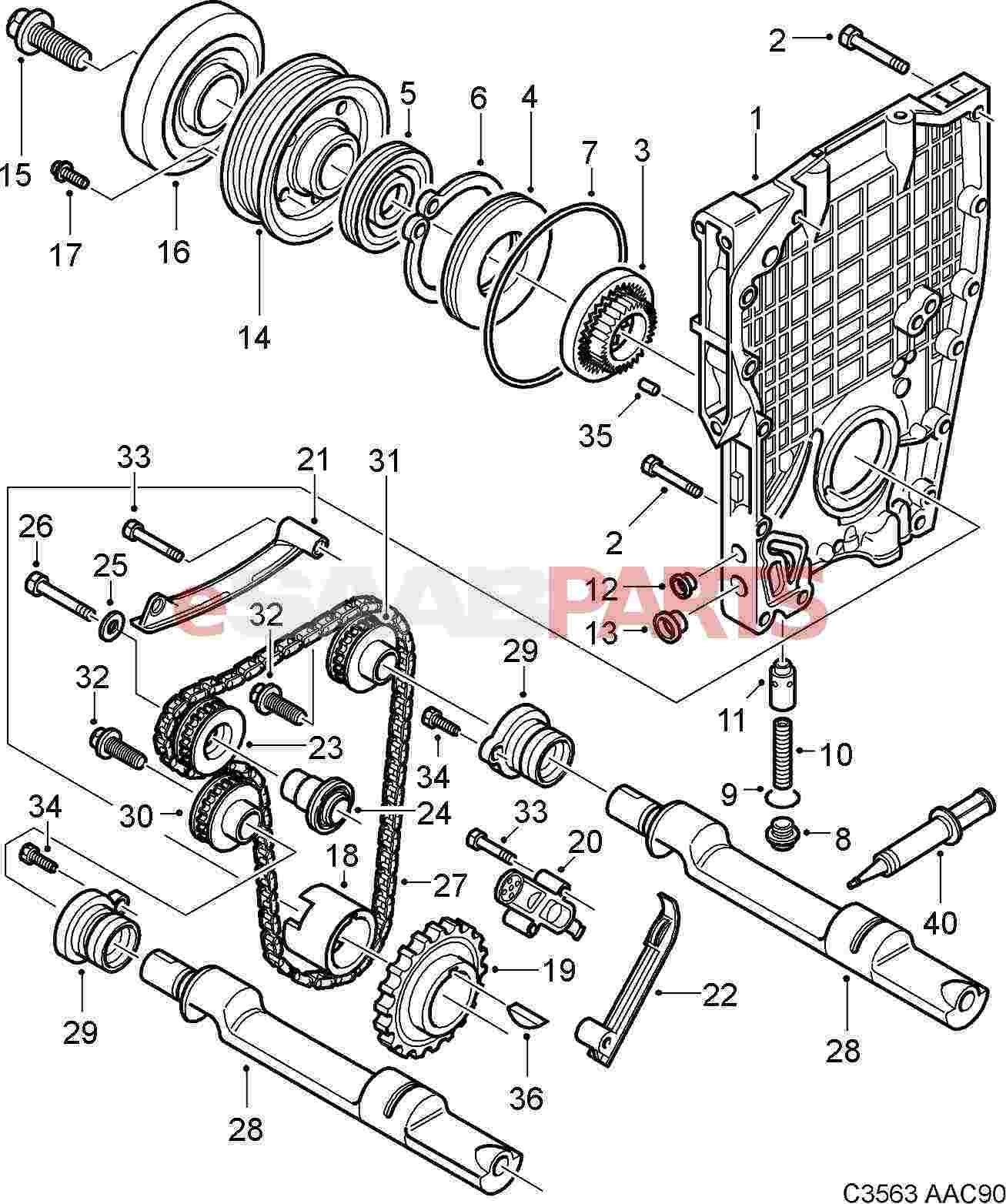 Saab 900 Transmission Diagram Wiring Diagrams Engine Porsche 944 Esaabparts Com
