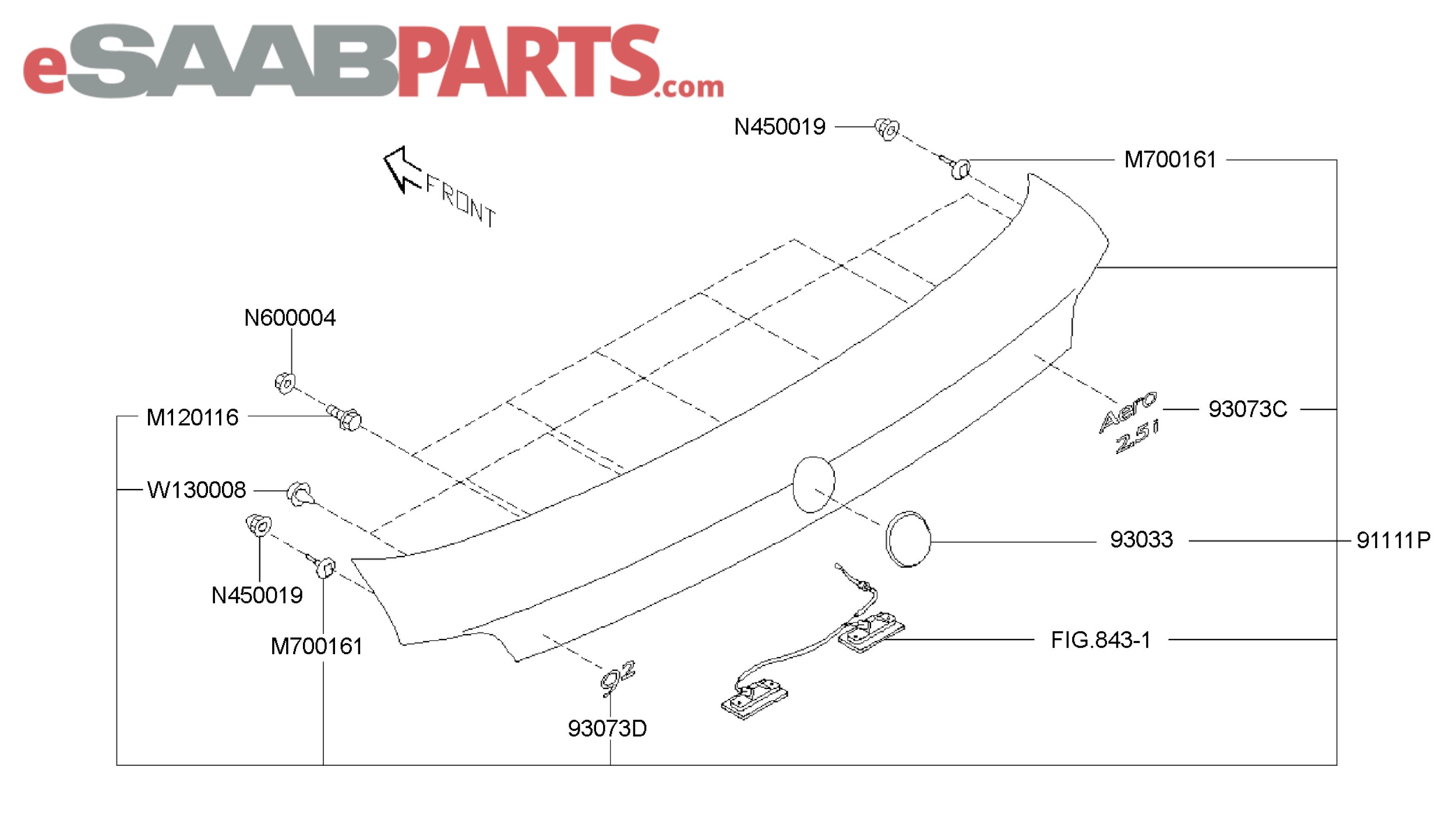 eSaabParts.com - Saab 9-2x > Car Body: External Parts > Trunk ...