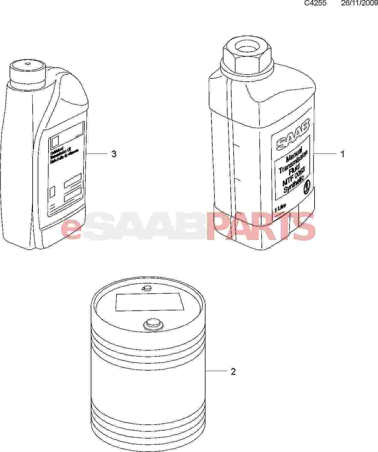 93165147  saab atf automatic transmission fluid  6