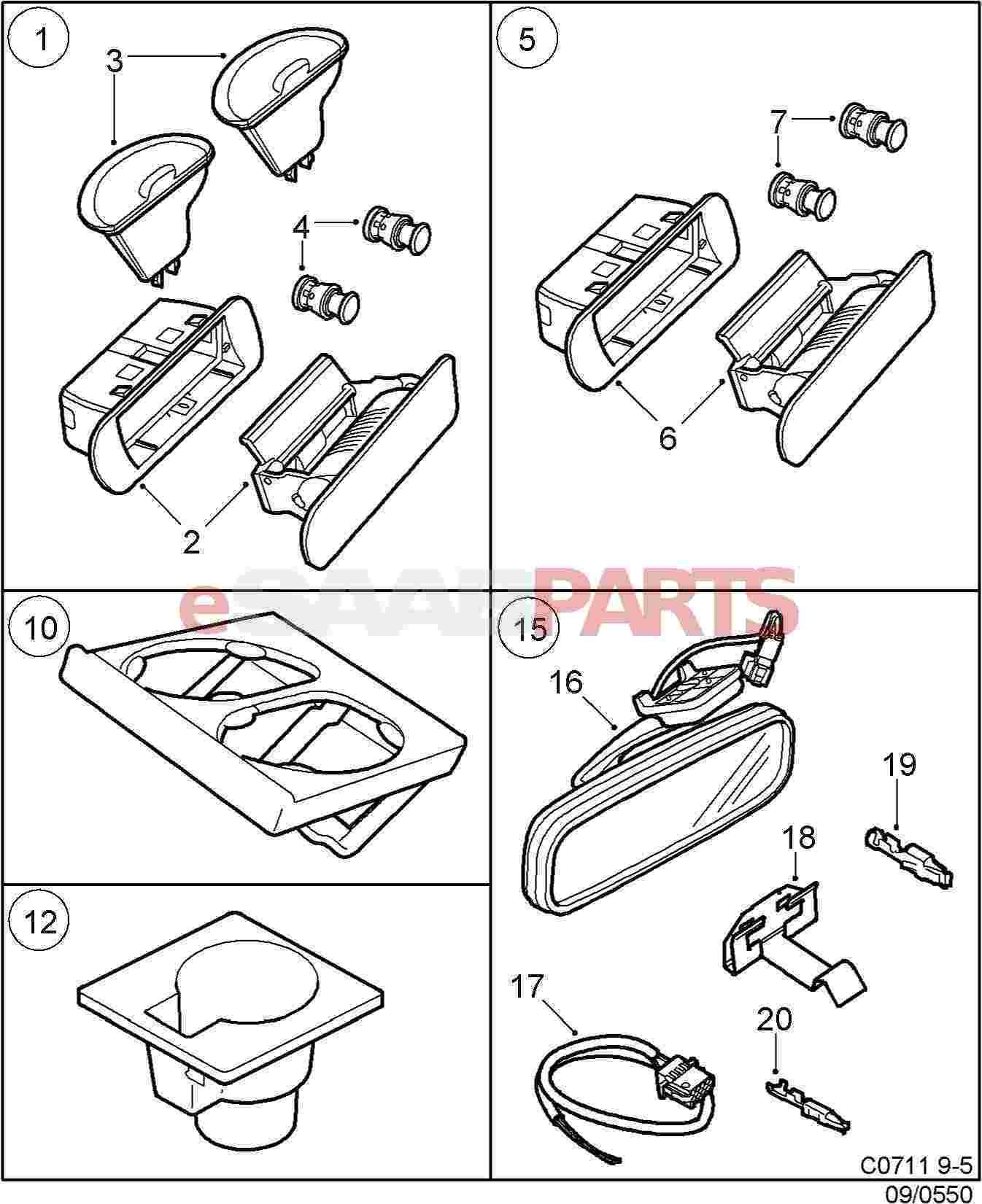 saab 9 3 mirror wiring diagram saab 9 3 ac wiring diagram [12777851] saab auto-dimming rear view mirror (w/o garage ... #7