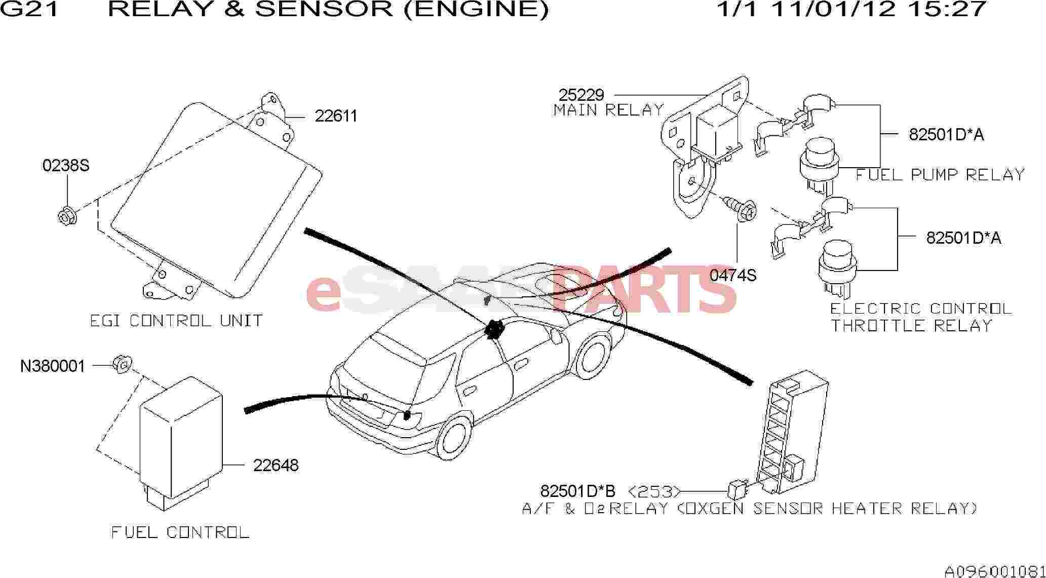 32008611 Saab Relay Genuine Parts From 92x Fuse Box Diagram Image 82501d B