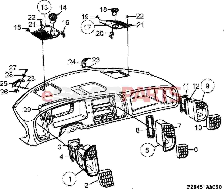 2008 vw beetle interior parts diagram
