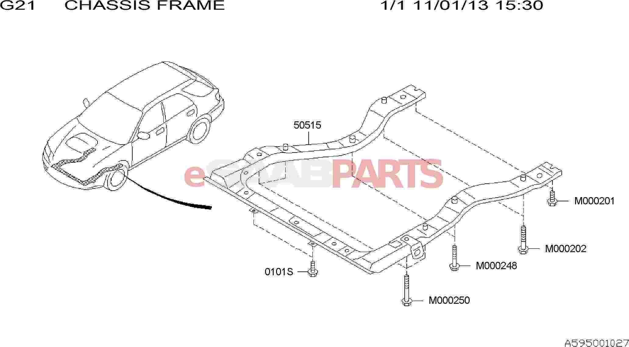car frame diagram
